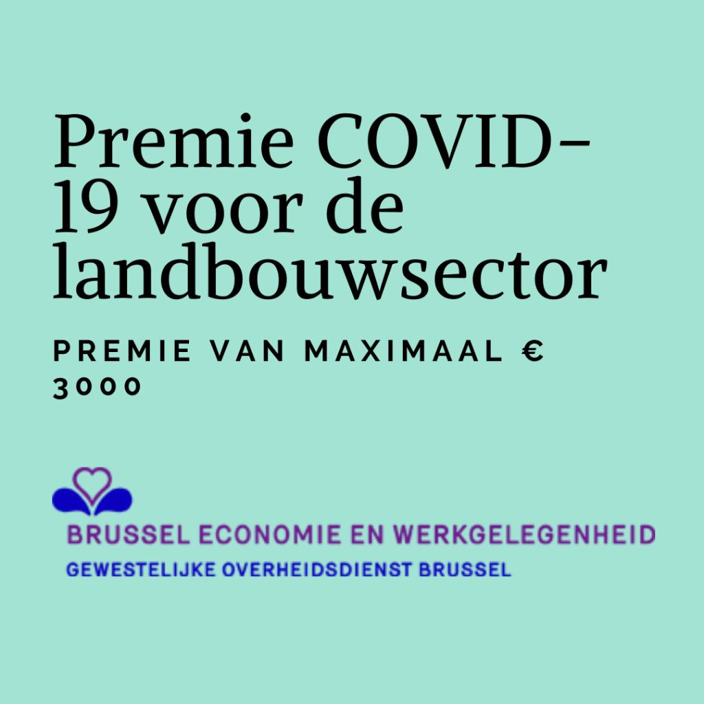 , Premie COVID-19 voor de landbouwsector