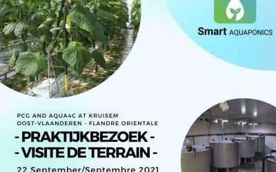 Smart Aquaponics : démonstration de l'application et visite de terrain à Aqua4C et PCG en Flandre Orientale